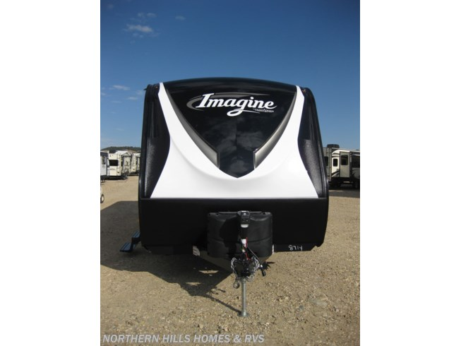 2019 Grand Design Imagine 2500RL - New Travel Trailer For Sale by Northern Hills Homes and RV's in Whitewood, South Dakota features 30 Amp Service, Air Conditioning, Alloy Wheels, AM/FM/CD, Auxiliary Battery, Black Tank Flush, Bluetooth Stereo, CO Detector, Detachable Power Cord, DVD Player, Enclosed Underbelly, Exterior Speakers, Heated Underbelly, Ladder, LED HDTV, Leveling Jacks, LP Detector, Medicine Cabinet, Microwave, Oven, Pass Thru Storage, Power Awning, Power Hitch Jack, Power Roof Vent, Queen Bed, Refrigerator, Roof Vents, Shower, Skylight, Slideout, Smoke Detector, Solar Prep, Spare Tire Kit, Stove Top Burner, Theater Seating, Tinted Windows, Toilet, U-Shaped Dinette, Water Heater