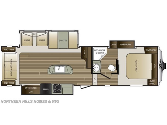 Floorplan of 2015 Keystone Cougar XLite 29RLI