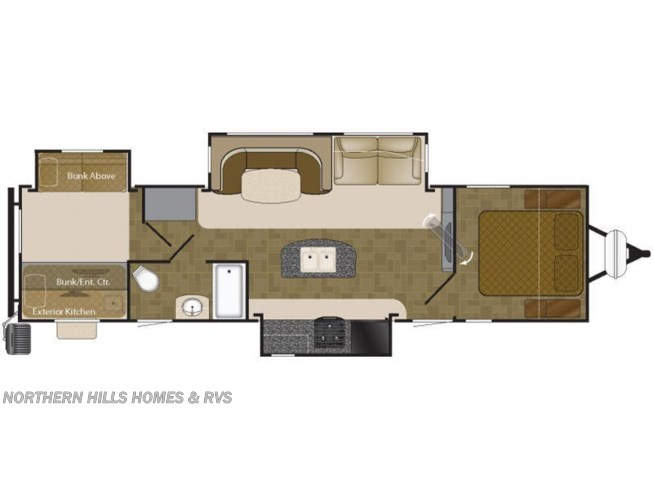 Floorplan of 2016 Heartland Mallard M33