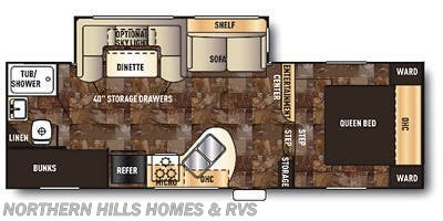 Floorplan of 2014 Forest River Cherokee 235B