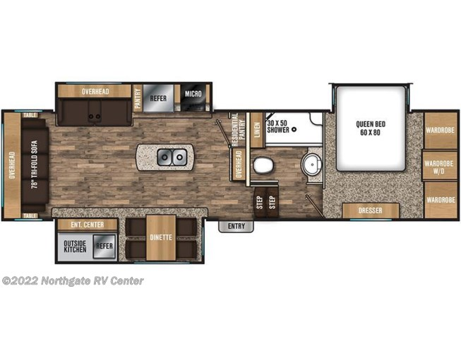 2018 Coachmen Chaparral 298RLS floorplan image