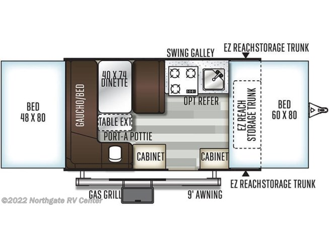 2019 Forest River Flagstaff 206STSE floorplan image