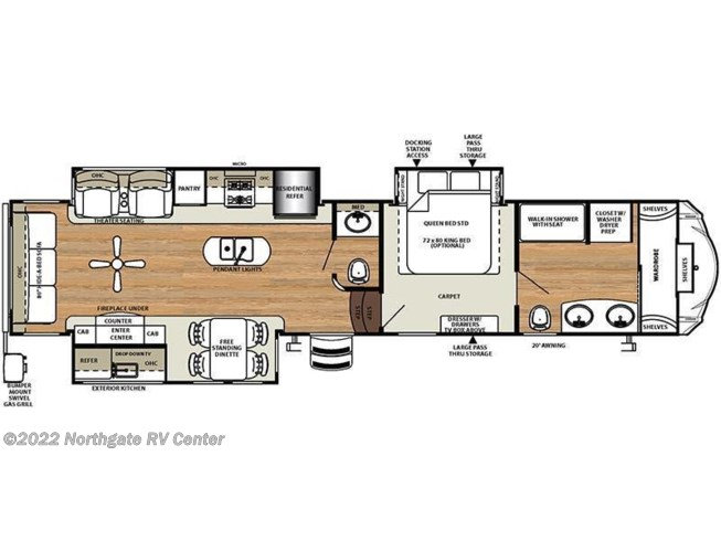 2018 Forest River Sierra 378FB floorplan image