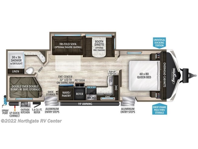 2019 Grand Design Imagine 2800BH floorplan image