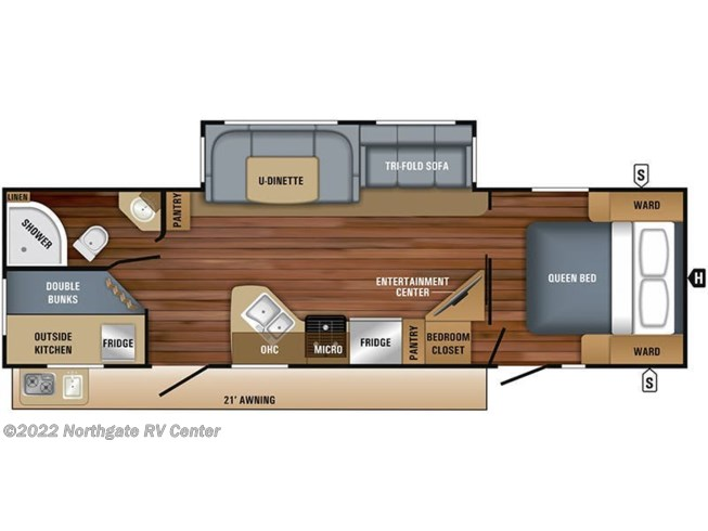 Floorplan of 2019 Jayco White Hawk 29BH