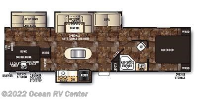 2014 Forest River Cherokee 304BH floorplan image
