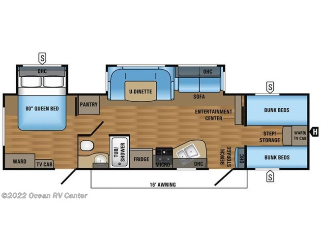 2017 Jayco Jay Flight 31QBDS floorplan image