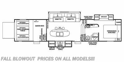 2013 Forest River Vengeance 396V floorplan image