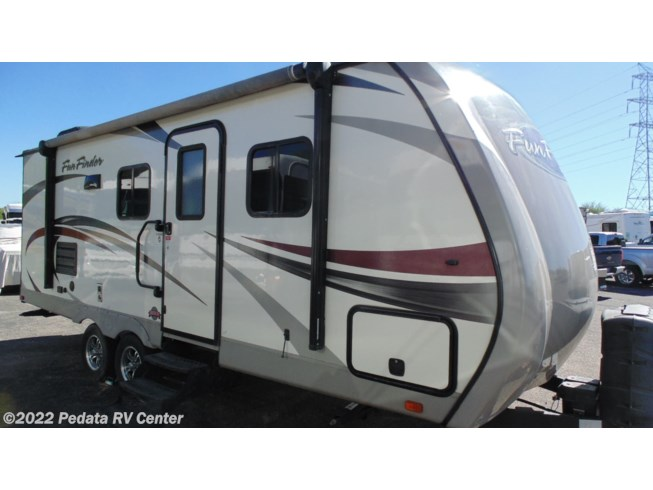 2016 Cruiser RV Fun Finder Xtreme Lite X-214WSD w/1sld - Used Travel Trailer For Sale by Pedata RV Center in Tucson, Arizona features Air Conditioning, Alloy Wheels, Batteries, Battery Charger, CO Detector, Converter, External Shower, Fire Extinguisher, Furnace, Glass Shower Door, LCD HDTV, LP Detector, Microwave, Non-Smoking Unit, Oven, Pleated Shades, Power Awning, Power Roof Vent, Propane, Refrigerator, Screen Door, Skylight, Slideout, Smoke Detector, Spare Tire Kit, Stabilizer Jacks, Tinted Windows, TV Antenna, U-Shaped Dinette, Water Heater