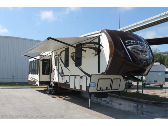 2016 Forest River Sierra 355RE - Used Fifth Wheel For Sale by PPL Motor Homes Houston in Houston, Texas features DVD Player, Exterior Stereo, Icemaker, Microwave, Non-Smoking Unit, Refrigerator, Slideout, Spare Tire Kit, Stabilizer Jacks, Stove, TV, Water Heater