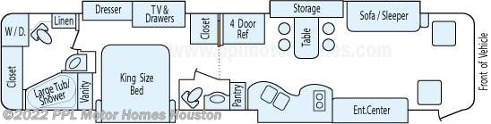 Floorplan of 2006 Holiday Rambler Imperial 42DSQ