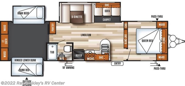 2017 Forest River Salem 31KQBTS Floorplan