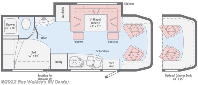 2018 Winnebago View 24J Floorplan