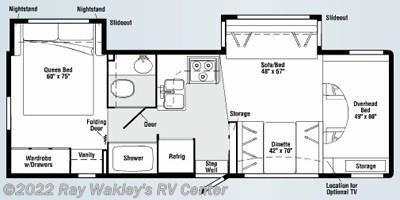 2008 Winnebago Outlook 29B Floorplan