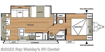 2015 Forest River Salem Cruise Lite 253RLXL Floorplan