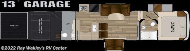 2018 Heartland RV Cyclone 4005 Floorplan
