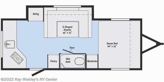 2018 Winnebago Minnie Drop 1790RD Floorplan