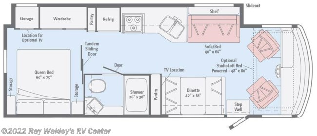 2018 Winnebago Vista 29VE Floorplan
