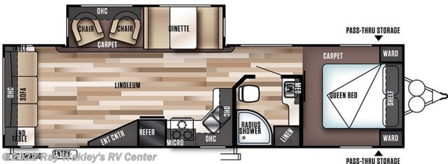 2018 Forest River Salem 28RLS Floorplan