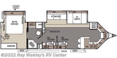 2014 Forest River Rockwood Windjammer 3008W Floorplan