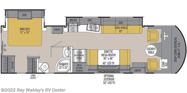 2018 Coachmen Pursuit 32WC Floorplan