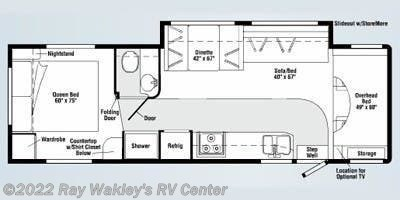 2008 Winnebago Outlook 31C Floorplan