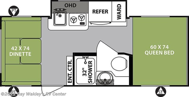 2019 Forest River R-Pod 190 Floorplan