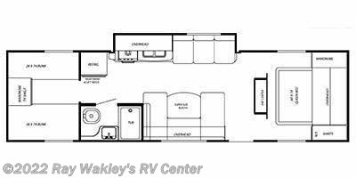 2010 Gulf Stream StreamLite Sport 28 QBD Floorplan