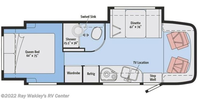 2017 Winnebago View 24G Floorplan