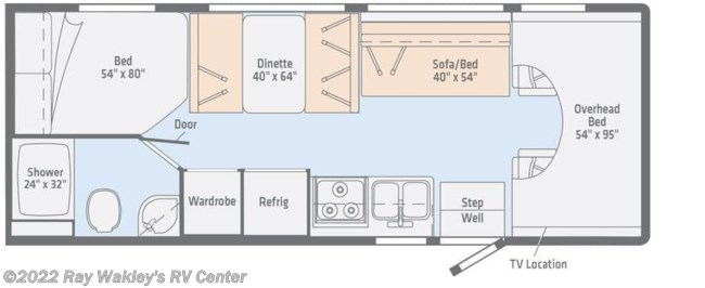 2019 Winnebago Outlook 25J Floorplan