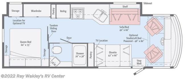 2019 Winnebago Vista 29VE Floorplan
