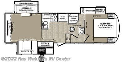 2015 Forest River Wildcat 293REX Floorplan