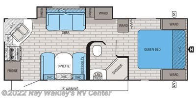 2015 Jayco White Hawk 24RKS floorplan image
