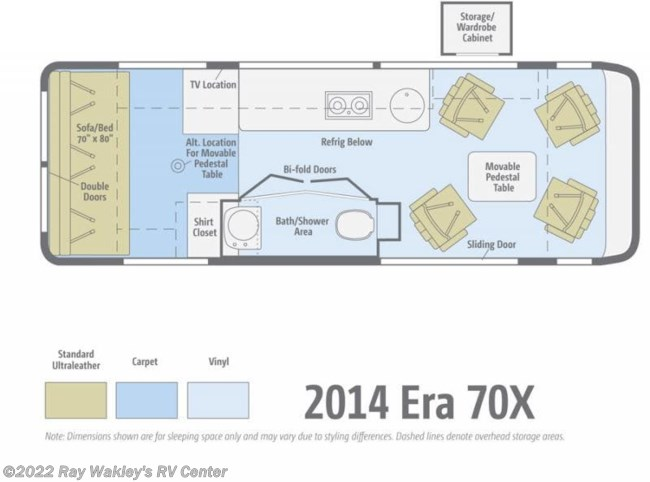2014 Winnebago Era 170X Floorplan
