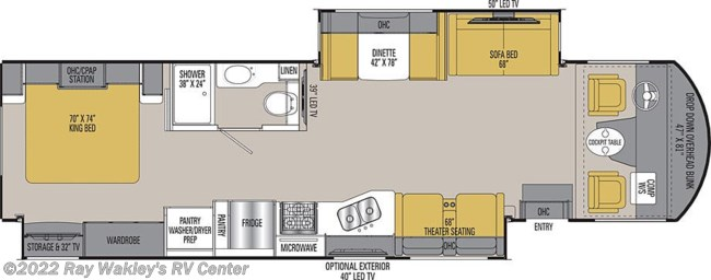2019 Coachmen Mirada 350S Floorplan