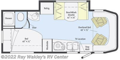 2015 Winnebago View 24J Floorplan