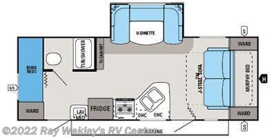 2014 Jayco White Hawk 23MBH floorplan image