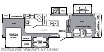 2011 Forest River Wildcat 343FL Floorplan