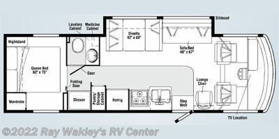 2009 Winnebago Vista 30B Floorplan