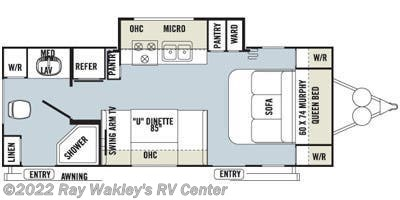 2014 Forest River Rockwood Mini Lite 2503S Floorplan