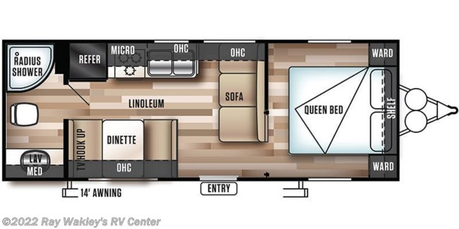 2019 Forest River Salem Cruise Lite 241QBXL Floorplan