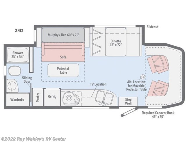 2019 Winnebago View 24D Floorplan