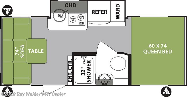 2019 Forest River R-Pod 189 Floorplan