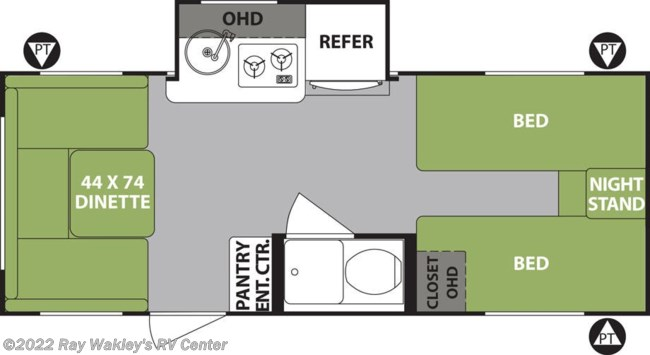 2019 Forest River R-Pod 191 Floorplan