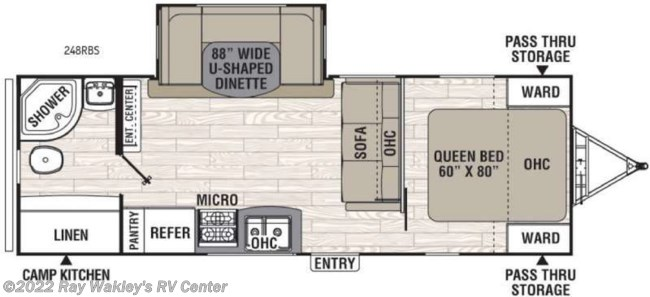 2017 Coachmen Freedom Express 248RBS Floorplan
