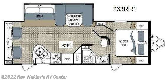 2013 Dutchmen Kodiak 263RLS Floorplan