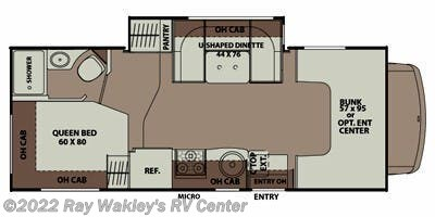 2015 Coachmen Leprechaun 220 QB Floorplan