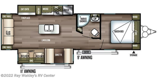2018 Forest River Salem 27REI Floorplan