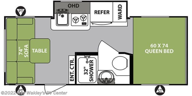 2019 Forest River R-Pod RP-189 Floorplan