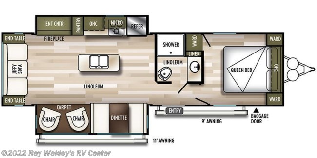 2019 Forest River Salem 27RE Floorplan